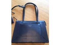 BRAND NEW RADLEY 'HARDWICK' DARK BLUE LEATHER HANDBAG - INCLUDES PURSE & DUSTBAG