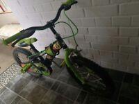 "Boys bike 16"", 3-6 years"