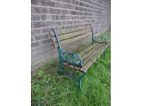 Lovely Garden Bench Cast Iron Metal with Lats - Delivery Available