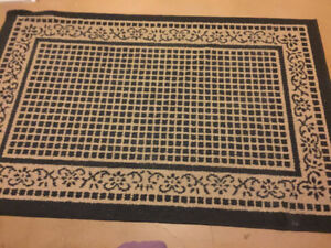 Selling Blue and Beige Area Rug