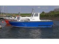 22ft Teal fishing boat