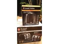 RUSSELL HOBBS 4 SLICE TOASTER & KETTLE BOXED & UNUSED