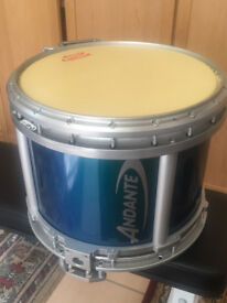 ANDANTE PIPE BAND SNARE DRUM UNUSED. EXCELLENT MINT CONDITION