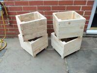wooden garden planters £5 each