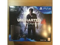 PS4 Slim 500GB Boxed w/ Uncharted 4 & The Last of Us - Barely Used