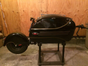 Custom built motorcycle trailer