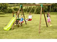 BRAND NEW-Little Tikes Hamburg Swing and Slide Garden Set