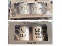 Mr & Mrs mug sets wedding gift