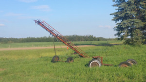 Seed drill and bale lift