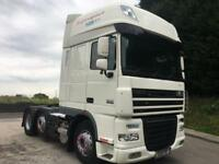 2011 11 DAF XF 105.460 superspace 6x2 unit, leather, fridge, roof lights