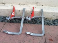 Pair of Bessey clamps