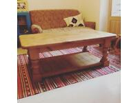 Large coffee table solid pine