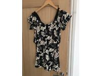 Miss Selfridge Floral Playsuit Size 10