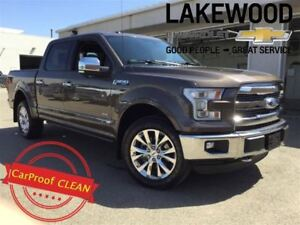 2016 Ford F-150 Lariat 4x4 SuperCrew (Cooled Seats, Nav)