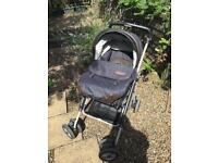 Mamas and papas pram with Moses basket style attachment
