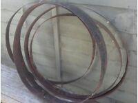 x5 Metal Barrel Rings - Garden Decor / DIY Planters