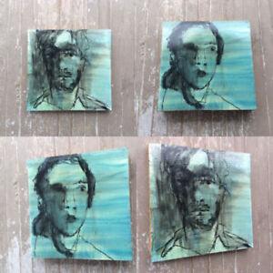 2 Jon Claytor Listed Cdn Artist Untitled Mixed Media Paintings