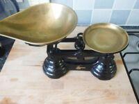 Black vintage style weighing scales