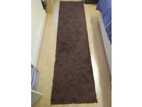 RUG SOFT SUPER THICK SHAGGY RUGS BROWN 230X60 CM - 7.5X2 FT