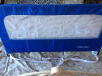 Mothercare bed guard in blue