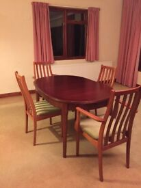 Large Extendable Dining Table and 4 Chairs