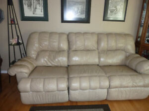 Reclining Leather couch & loveseat for sale