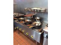 Gas cooker wok restaurant