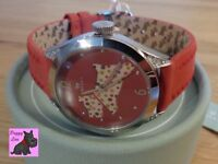 Radley RY2175 Ladies 'Spotty Dog' Red Leather Strap Watch - NEW RRP: £85