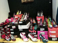 BRAND NEW BOXED IRON FIST / TUK / Abbey Dawn shoes 64 PAIRS Ideal for market stall. Wholeale batch