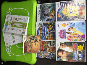 Wii fit board and various wii games