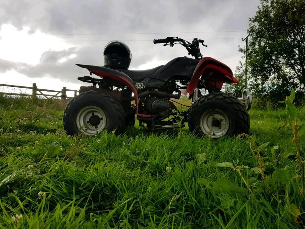 200cc bashan quad bike for sale or swaps