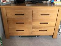 Chest of drawers solid oak from danks