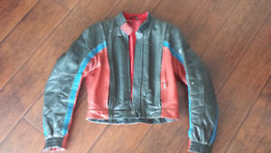 Vintage BMW Motorcycle zip together Leather pants and jacket