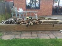 Selection of wood - incl tree(see all photos) could be used for firewood