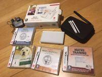 Nintendo DS Lite Console with Case & Games - In Original Box - White