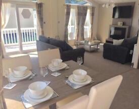 Luxury Lodge for Sale 50 week season park, includes decking, Devon, Dawlish