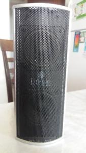 mini silver speakers