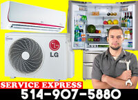 REPARATION CLIMATISEUR THERMOPOMPE AIR CLIMATISE FRIGIDAIRE::