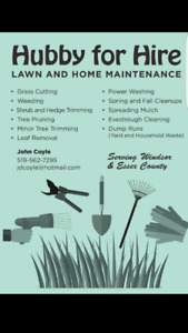 Yard/Lawn Maintenence (County areas)