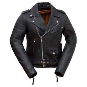 Brand new women's first classics genuine leather jacket
