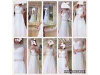 Justin Alexandra Wedding Dress Style 8799 size 8 stunning
