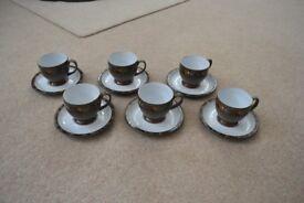 Set of 6 Denby Marrakesh Cups & Saucers