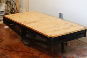 Warehouse Luggage Cart Coffee Table