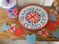 Emma Bridgewater biscuit tin and tray