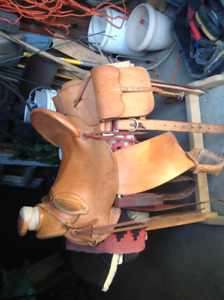 Custom English riding saddle