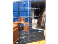 Large glass bookcase / side unit