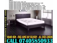 BRAND NEW SINGLE DOUBLE AND KING SIZE LEATHER BED WITH MATTRESS. Kailua Kona