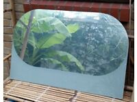 Curved rectangular mirror by Hay
