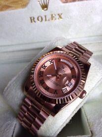 Rolex Daydate Platinum Pink Gold