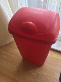 Large red bin